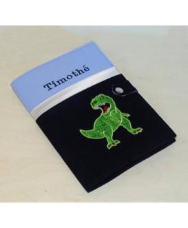 Protège carnet de santé rigide personnalisé - thème dinosaure - Cadeau de naissance garçon