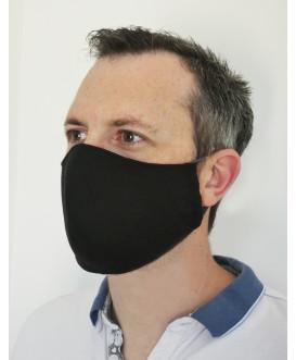 Masque en tissu noir - lavable et réutilisable - homme